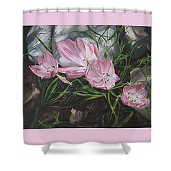 Resurrection Lilies Shower Curtain