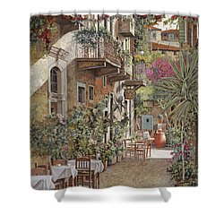 Rethimnon-crete-greece Shower Curtain by Guido Borelli