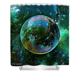 Reticulated Dream Orb Shower Curtain
