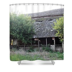 Shower Curtain featuring the photograph Retired Barn by Bonfire Photography