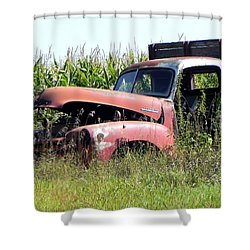 Shower Curtain featuring the photograph Retired by Deb Halloran