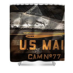 Retired Mail Carrier - Pitcairn P-6 Mailwing 1929 Shower Curtain by Gary Heller