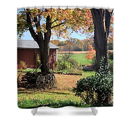 Shower Curtain featuring the photograph Retired Wagon by Gordon Elwell