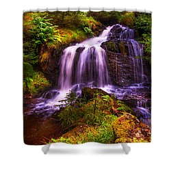 Retreat For Soul. Rest And Be Thankful. Scotland Shower Curtain by Jenny Rainbow