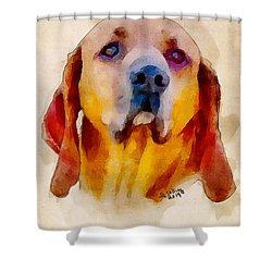 Shower Curtain featuring the painting Retriever by Greg Collins