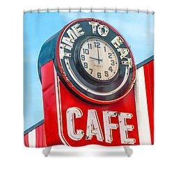 Retro Cafe Shower Curtain