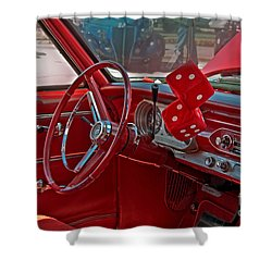 Retro Chevy Car Interior Art Prints Shower Curtain