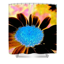 Retro Daisy Shower Curtain