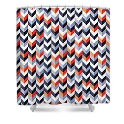 Retro Geometric Shower Curtain