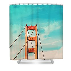 Retro Golden Gate - San Francisco Shower Curtain