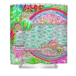 Retro Shower Curtain by Liane Wright