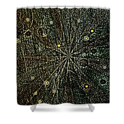 Retro Planets Shower Curtain by Steve Ball
