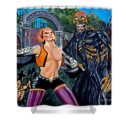 Return Of The Living Dead Shower Curtain by Jose Mendez