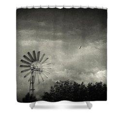 Return Shower Curtain by Taylan Apukovska