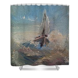 Return To Shores Shower Curtain