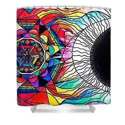 Return To Source Shower Curtain by Teal Eye  Print Store