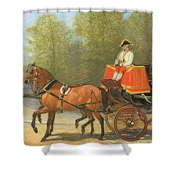 Returning From Her Majestys Drawing Room Shower Curtain by Alfred Corbould