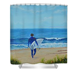 Returning To The Waves Shower Curtain
