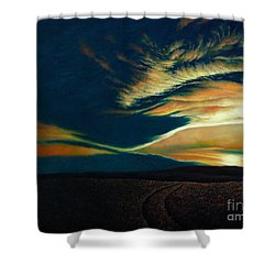 Returning To Tuscarora Mountain Shower Curtain by Christopher Shellhammer