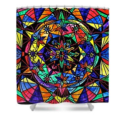 Reveal The Mystery Shower Curtain by Teal Eye  Print Store