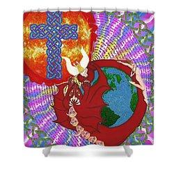 Revelation 12 Shower Curtain by Hidden  Mountain