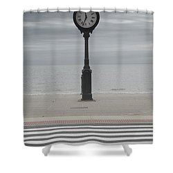 Revere Beach Shower Curtain by Juli Scalzi