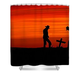 Cowboy Reverence Shower Curtain