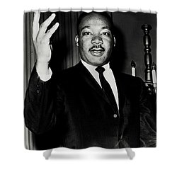 Reverend King Shower Curtain by Benjamin Yeager