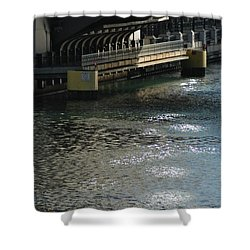 Reverse Flow Shower Curtain by Joseph Yarbrough