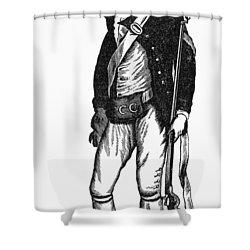 Revolutionary War Rifleman Shower Curtain by Granger