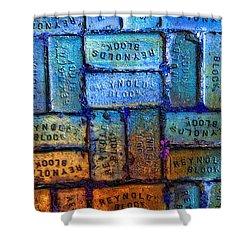 Reynolds Blocks - Vintage Art By Sharon Cummings Shower Curtain by Sharon Cummings