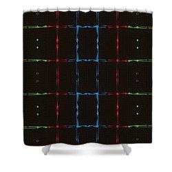 Rgb Network Shower Curtain