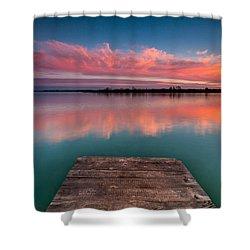 Rgb Sunset Shower Curtain by Davorin Mance
