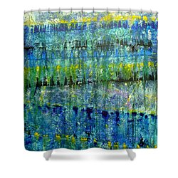 Rhapsody In Blue Shower Curtain by Jim Whalen