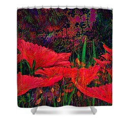 Rhapsody In Red Shower Curtain