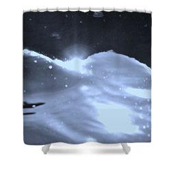 Moon Sunset Shower Curtain