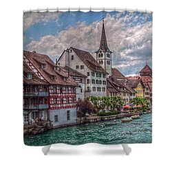 Shower Curtain featuring the photograph Rhine Bank by Hanny Heim