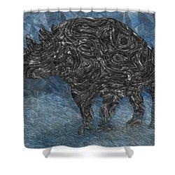 Rhino 5 Shower Curtain by Jack Zulli