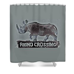 Shower Curtain featuring the photograph Rhino Xiv by Larry Campbell