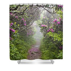 Rhododendron Time In North Carolina Shower Curtain by Bill Swindaman