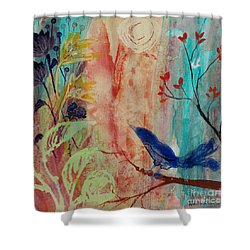 Shower Curtain featuring the painting Rhythm And Blues by Robin Maria Pedrero