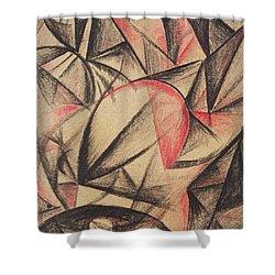Rhythm Of Forms Shower Curtain by Alexander Bogomazov