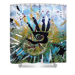 Rhythm Of Life Shower Curtain