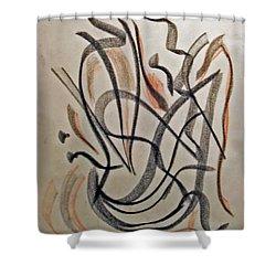 Rhythmic Interpretation  Shower Curtain by John Neumann
