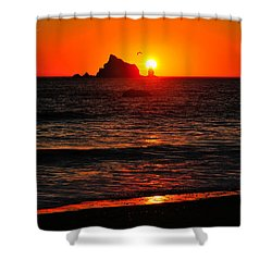 Rialto Beach Sunset Shower Curtain
