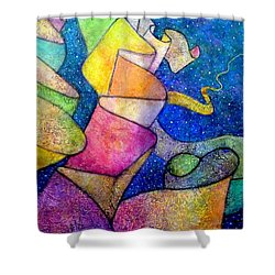 Ribbon In The Sky Shower Curtain by Jim Whalen