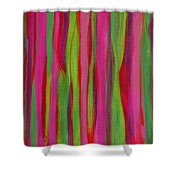 Ribbons Shower Curtain by Donna  Manaraze