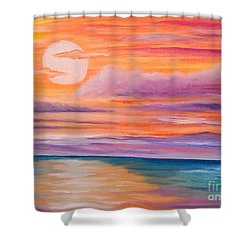 Ribbons In The Sky Shower Curtain