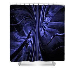 Ribbons Of Time Shower Curtain by GJ Blackman