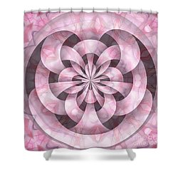 Ribbons Shower Curtain by Peggy Hughes